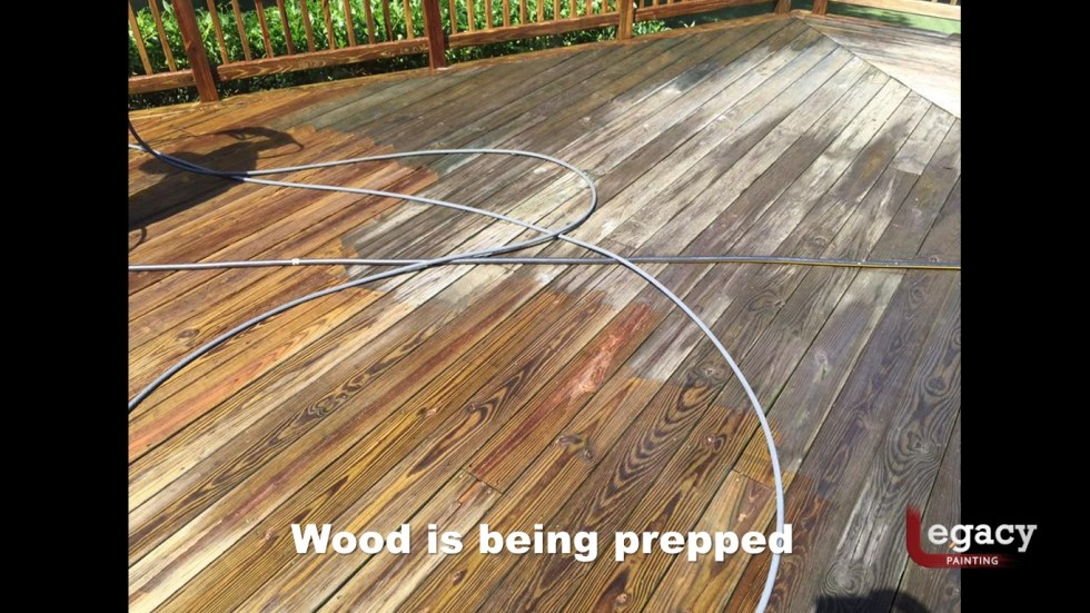 Deck Pressure Wash And Stain