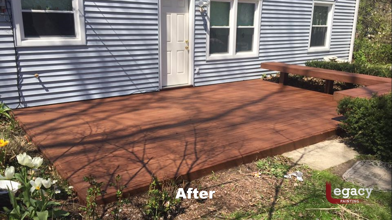 Low Level Deck Staining