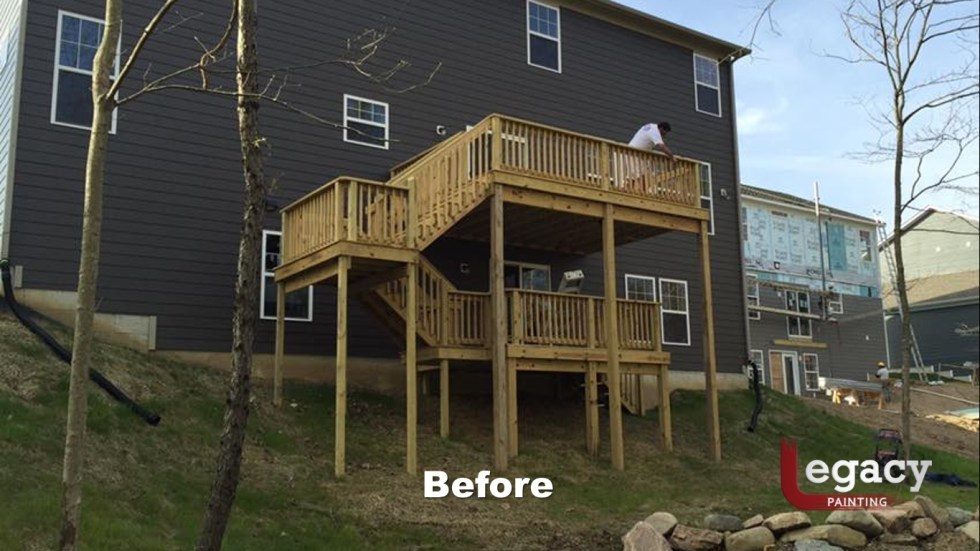 Solid Color Deck Staining Indianapolis