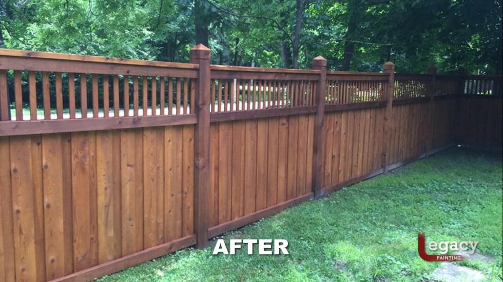 New Decorative Fence Staining 3