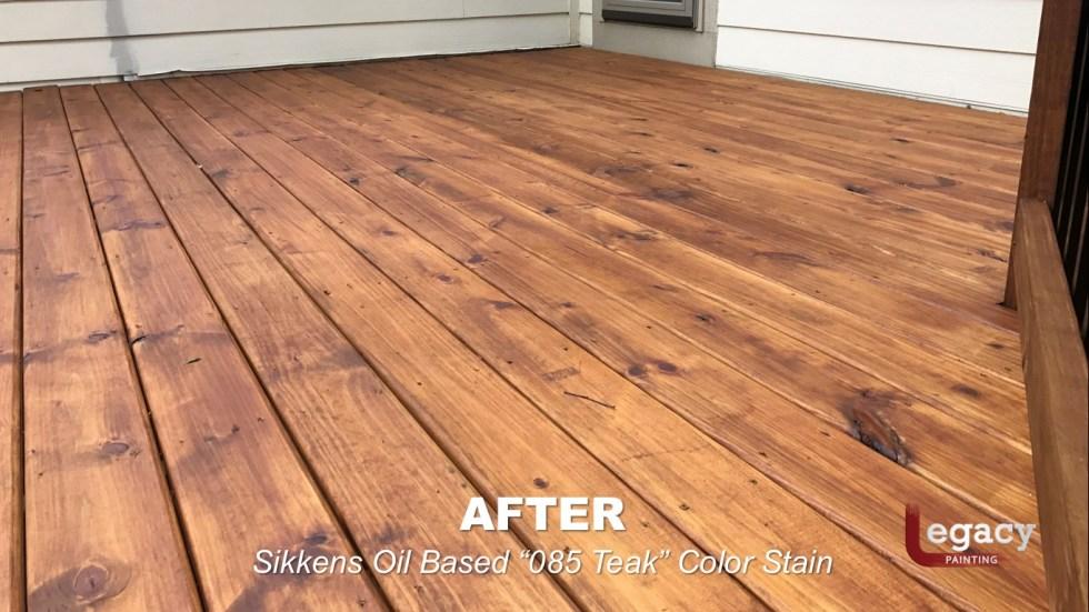 Carmel New Deck Staining - Teak 10