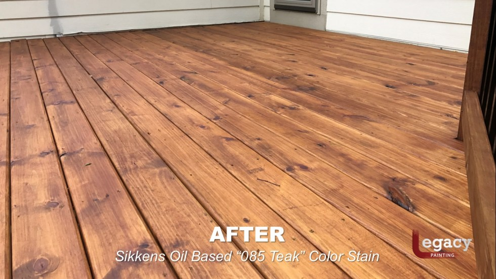 Carmel New Deck Staining - Teak 10