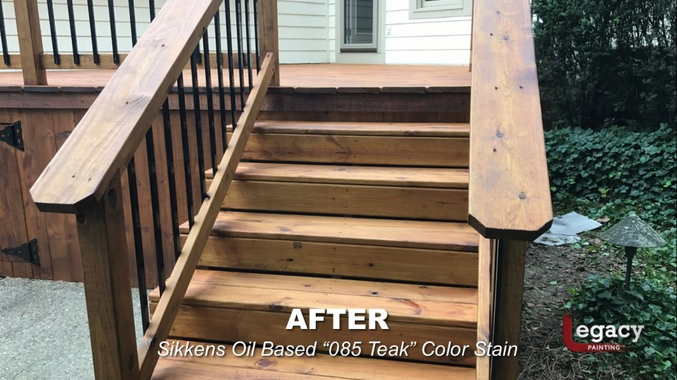 Carmel New Deck Staining - Teak 7