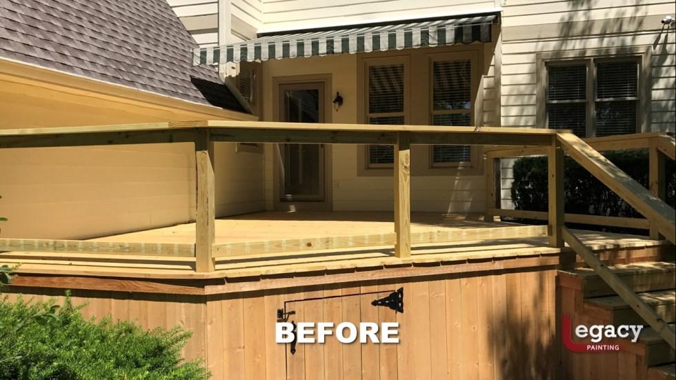 Carmel New Deck Staining - Teak