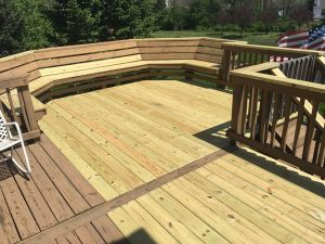 deck stripper pressure wash then stain
