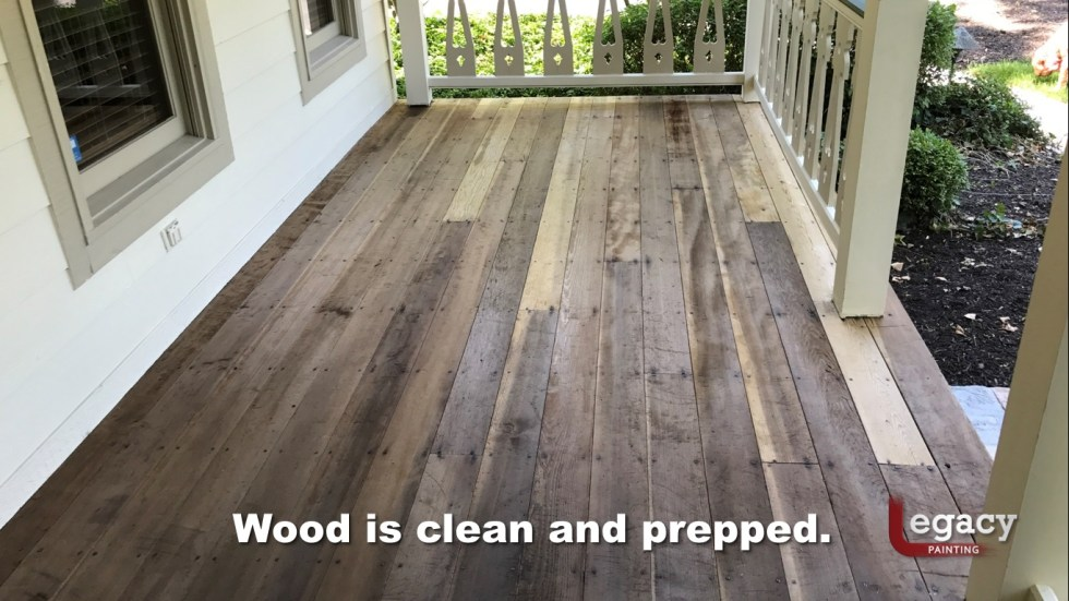 Redwood Deck Staining - Carmel Indiana 6