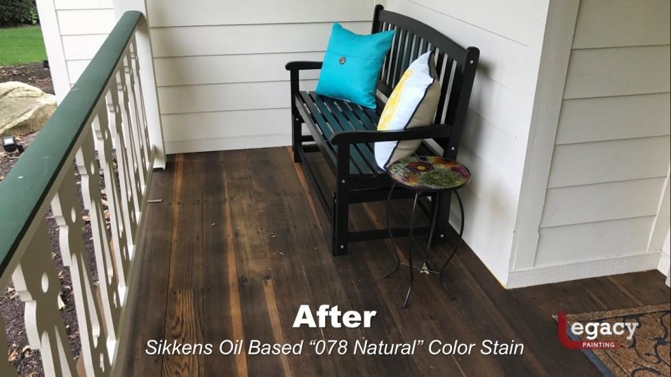 Redwood Deck Staining - Carmel Indiana