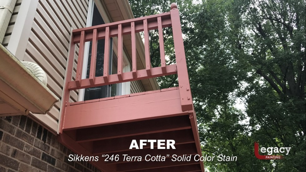 Deck Coating Replaced With Solid Stain 13