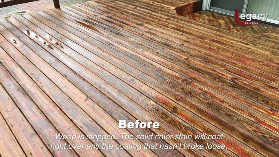 Deck Coating Replaced With Solid Stain 9