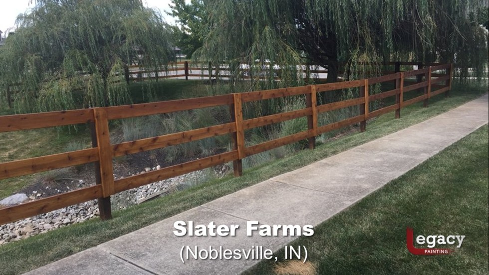 Commercial Gazebo Fence Staining Painting - Noblesville 6