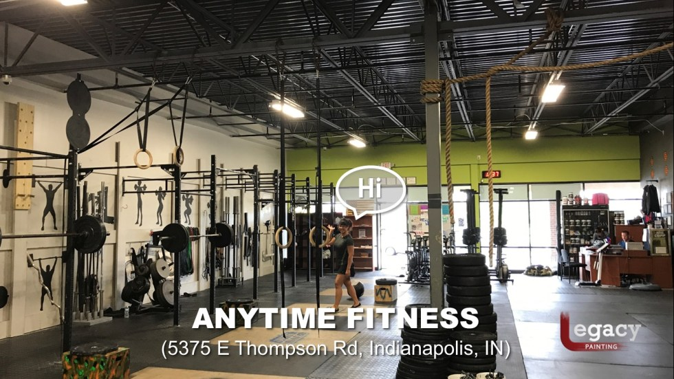 Commercial Painting Services - Anytime Fitness Indianapolis 11