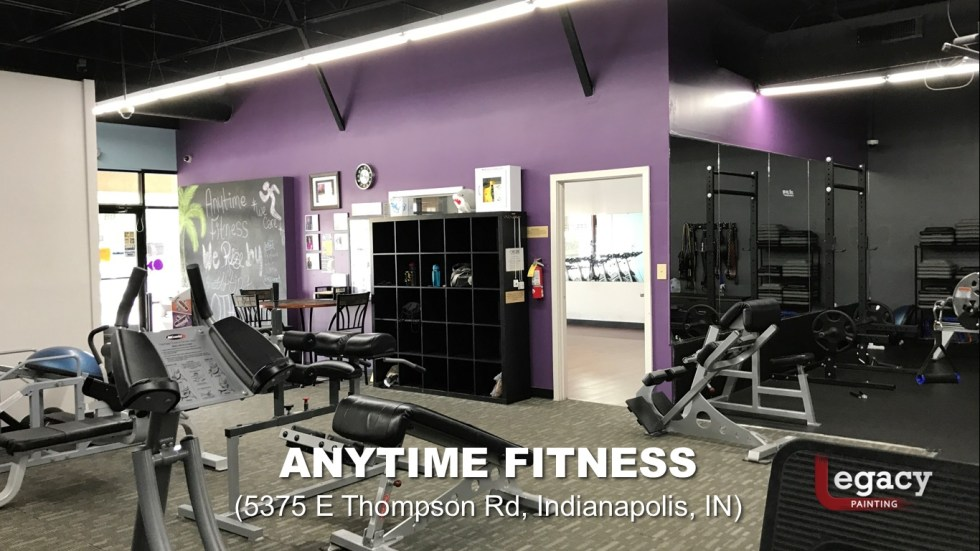 Commercial Painting Services - Anytime Fitness Indianapolis 4