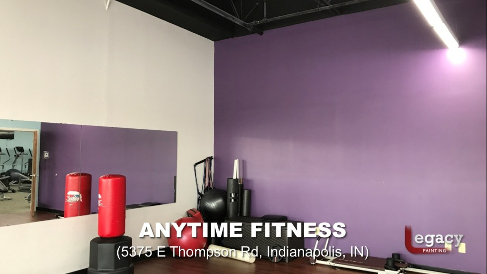 Commercial Painting Services - Anytime Fitness Indianapolis 5