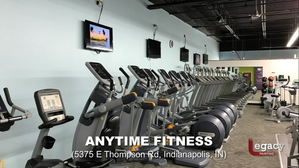 Commercial Painting Services - Anytime Fitness Indianapolis