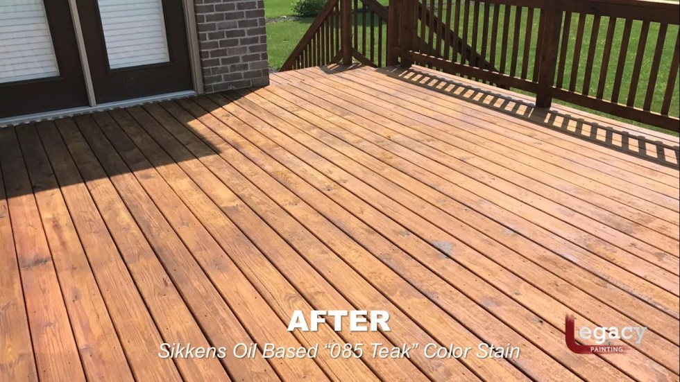 Deck Staining Fishers Indiana Sikkens Teak 7