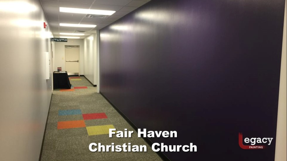 Interior Commercial Painting - Fair Haven Church 4