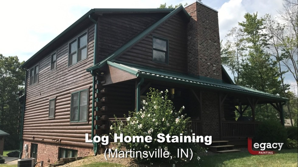 Log Home Staining - Martinsville Indiana 2