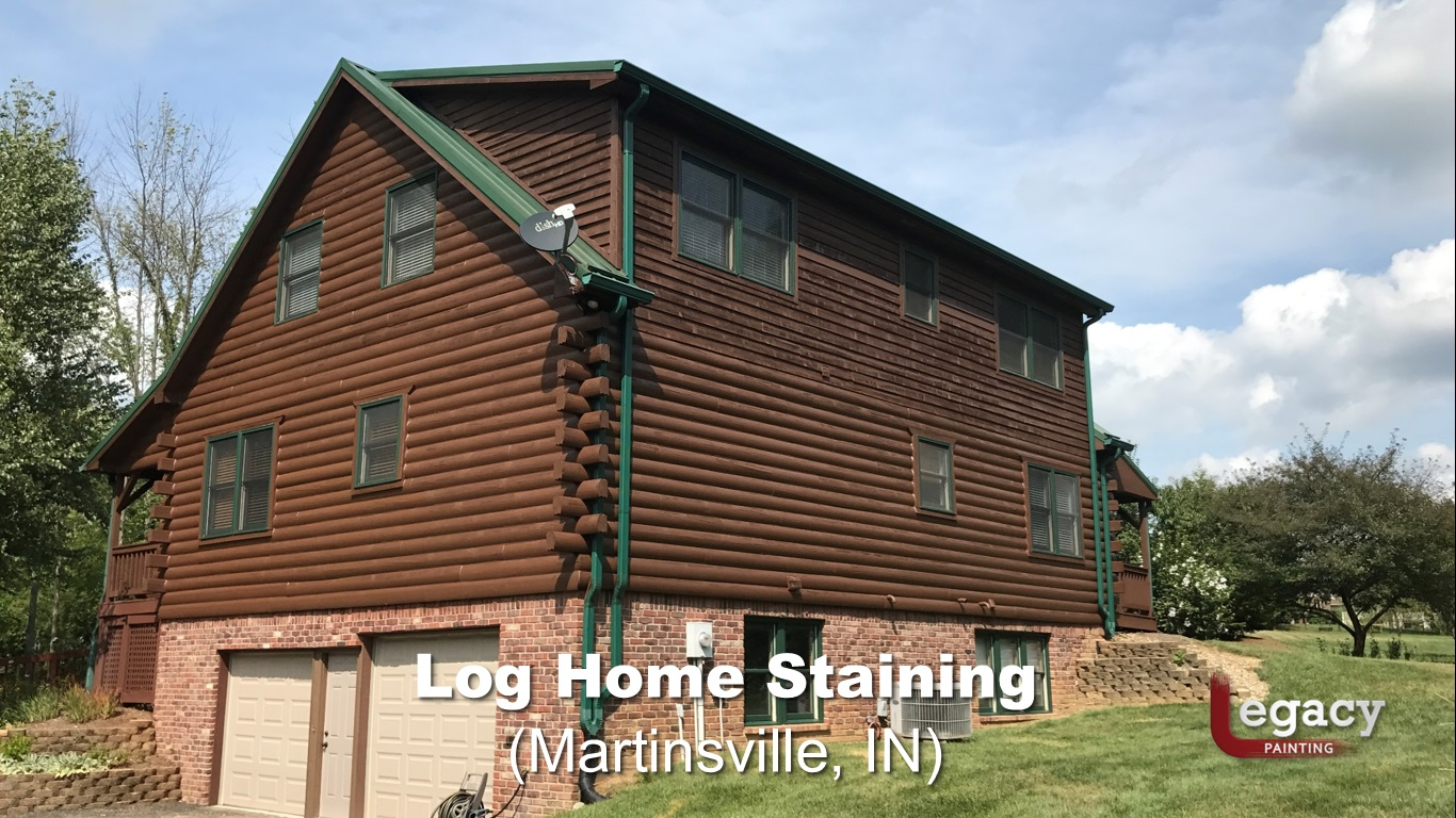 log home staining - martinsville indiana 3
