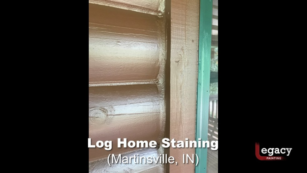 Log Home Staining - Martinsville Indiana 5