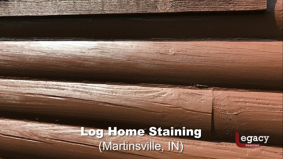Log Home Staining - Martinsville Indiana 6