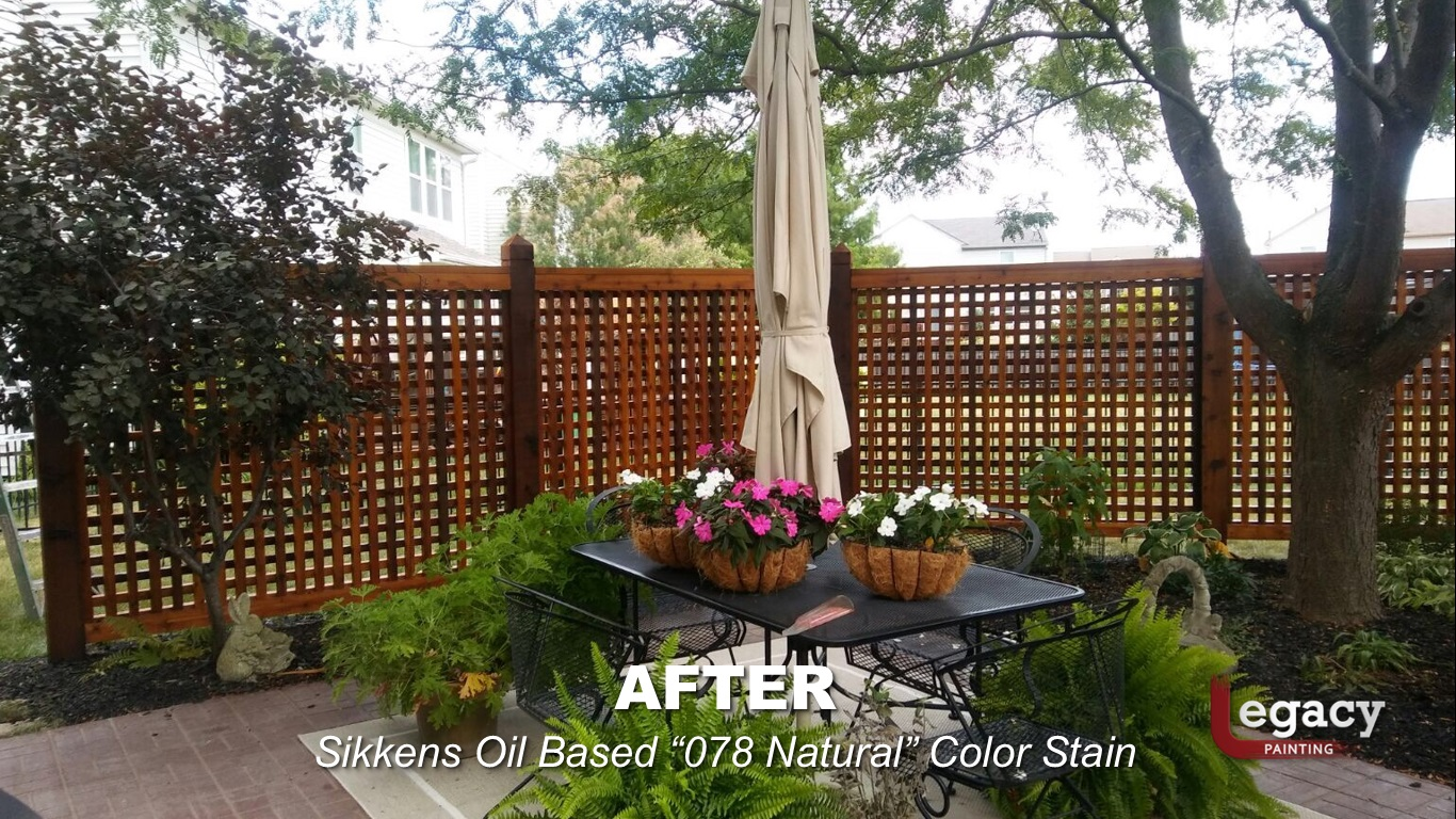 Decorative Cedar Fence Staining Contractor - Carmel Indiana 5