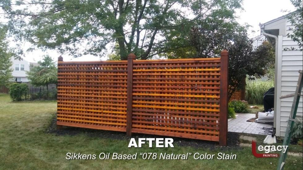 Decorative Cedar Fence Staining Contractor - Carmel Indiana 6