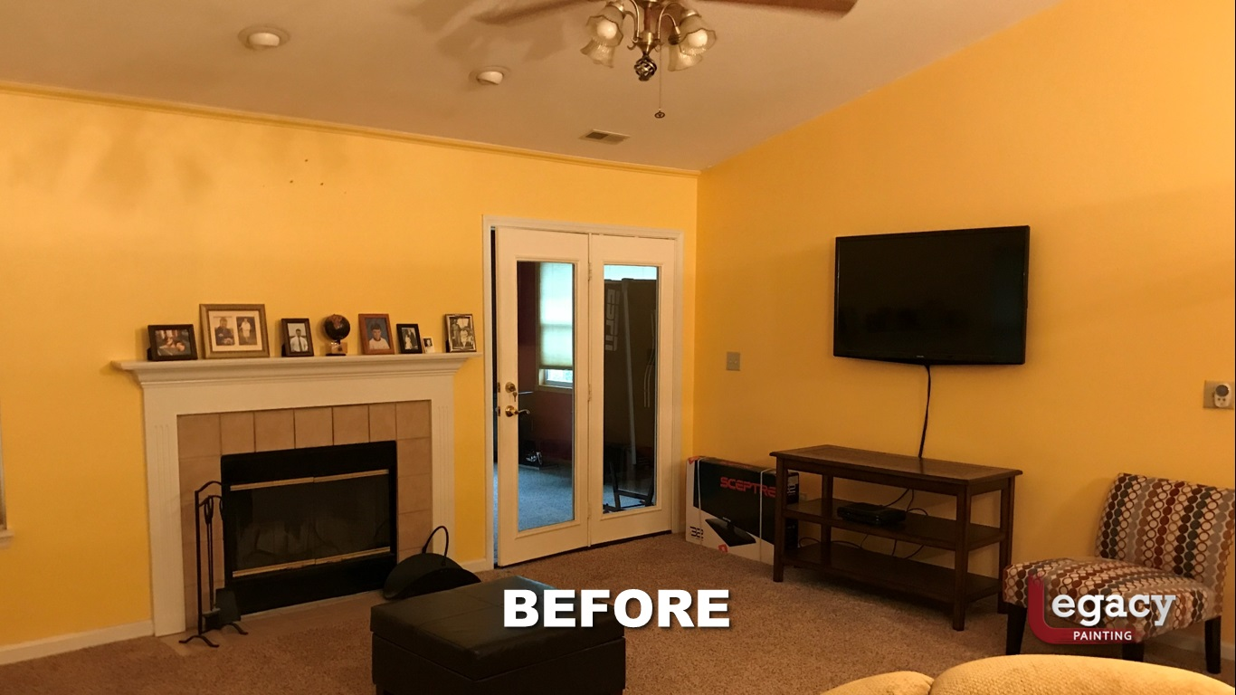 Home Interior Painting Before 4 Franklin Indiana Legacy Painting