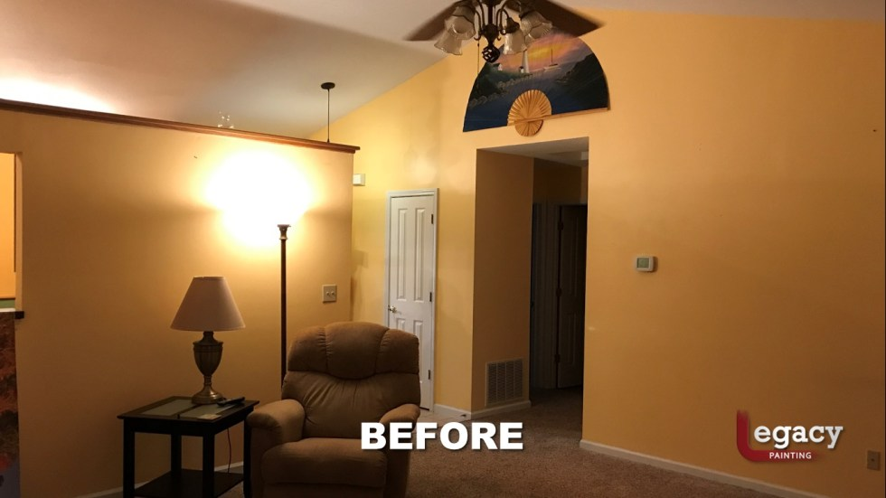 Home Interior Painting Before 6 Franklin Indiana Legacy Painting