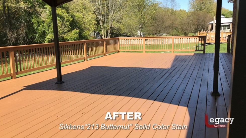 Plainfield Deck Staining - Butternut - Slide10