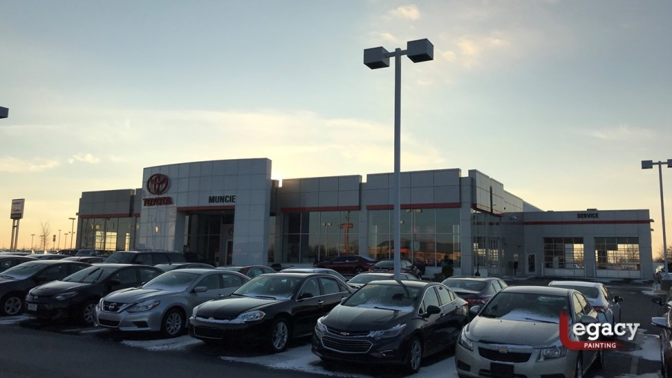 Commercial Painting - Muncie Toyota 1