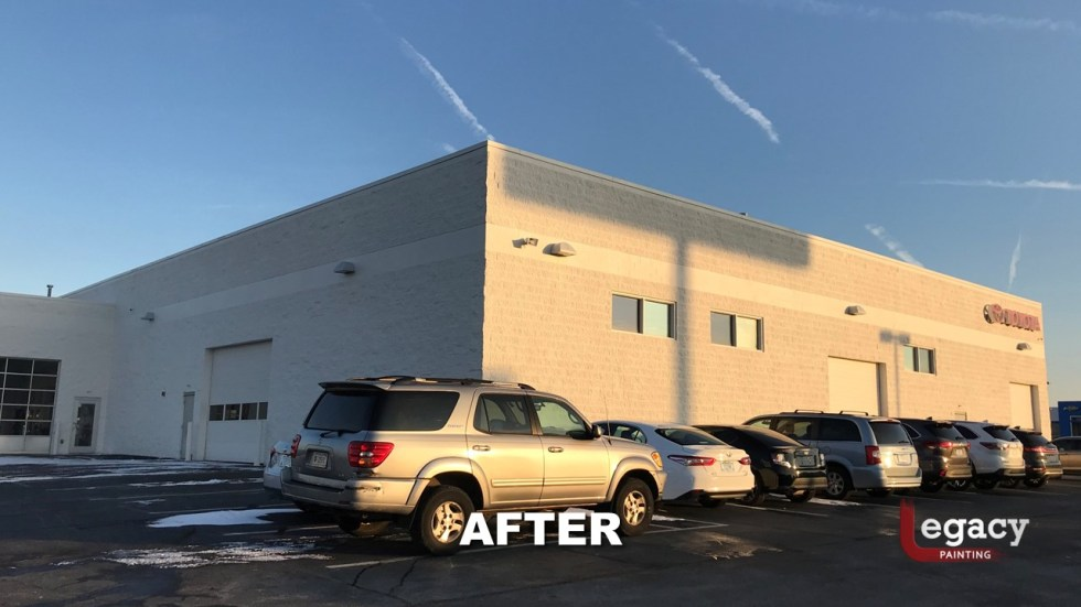 Commercial Painting - Muncie Toyota 11