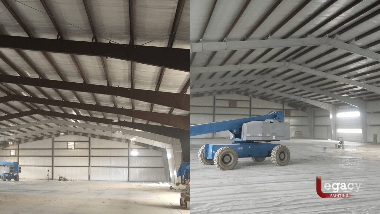 Steel Beams Interior Painting