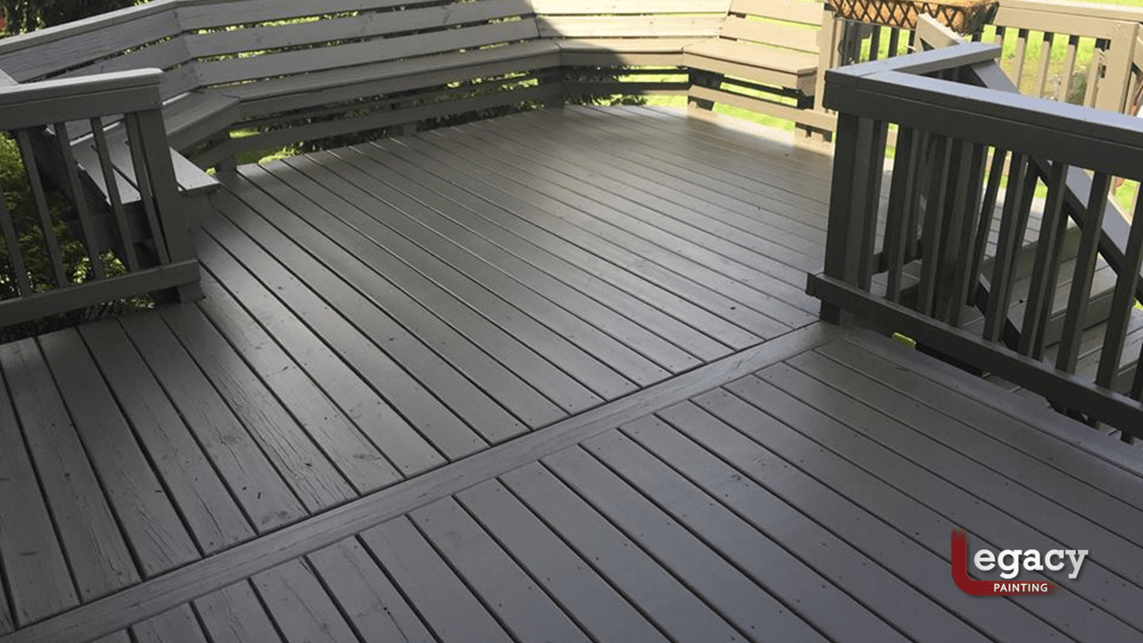 deck staining solid color