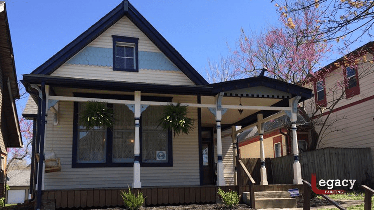 wood siding and porch exterior painting