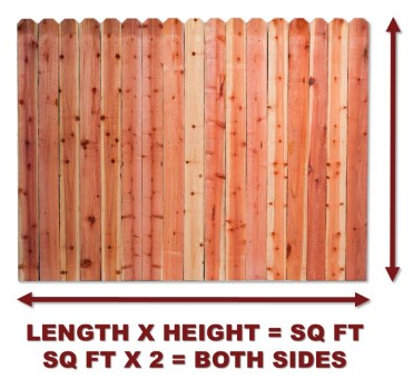 calculate fence sq ft
