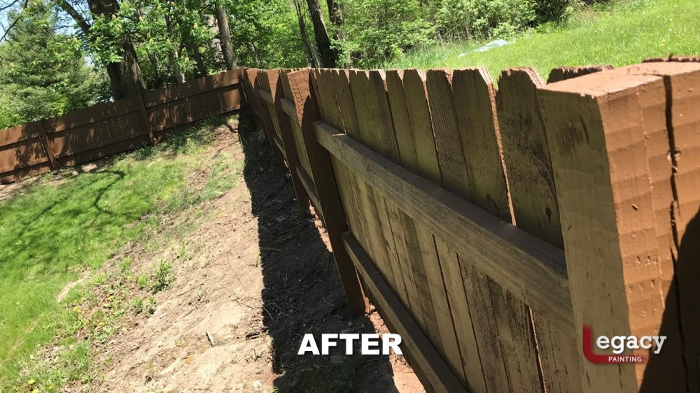 Fence Staining - Proluxe Chestnut Brown Solid Stain - Fishers In 11
