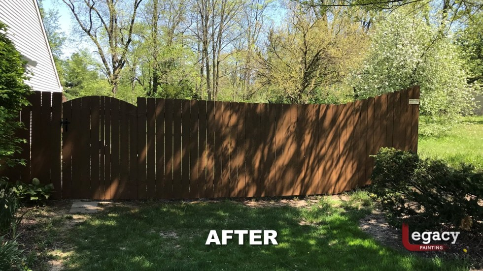 fence staining - proluxe chestnut brown solid stain