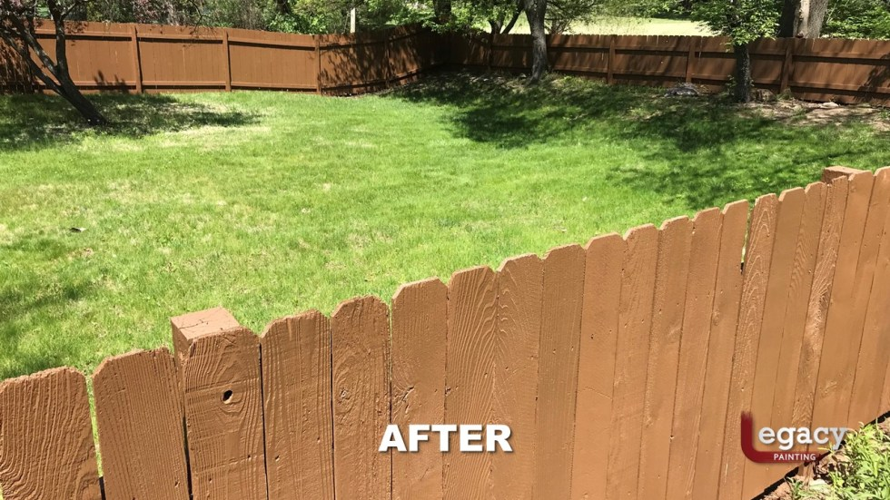 Fence Staining - Proluxe Chestnut Brown Solid Stain - Fishers In 5