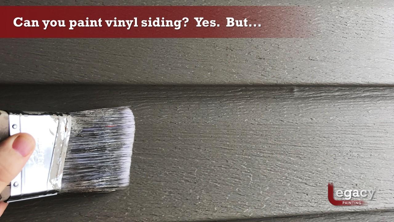 Benefits of Painting Vinyl Siding