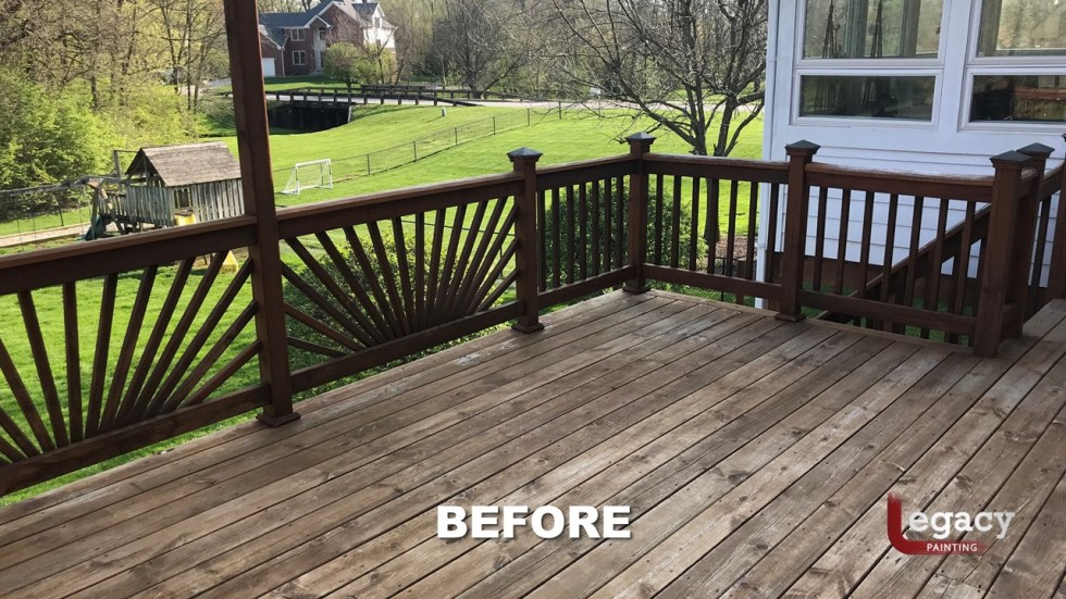 Center Grove Deck Staining - 2 Color Solid Stain - Legacy