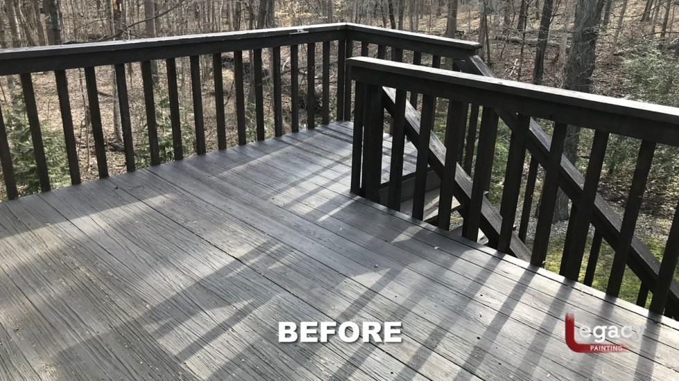 Deck Refinishing Using Ppg Rubbol Hazelnut Legacy Painting