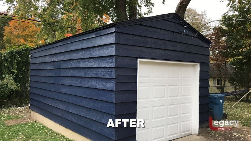 Blue House Exterior Painting Broadripple Indy