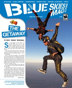 """Blue Skies Magazine i56: August 2014   Justin Russell and Brandon Chouinard doing a sunset freefly """"dance off"""" during The Revolution Boogie held at Skydive Dallas. Photo by Randy Swallows • randyswallows.com.   blueskiesmag.com"""