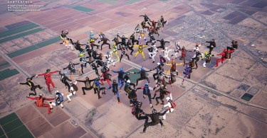 72 jumpers go head-up for a world record April 9, 2016, at Skydive Arizona. Photo by Greg Gasson • skydivingstunts.com | https://bluleskiesmag.com