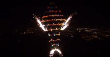 CRW jumpers set a night-formation world record Feb. 11 at Florida Skydiving Center in Lake Wales. | https://blueskiesmag.com/2017/02/16/canopy-formation-aka-crw-world-record