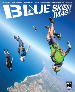 Blue Skies Magazine i98: February 2019   Jumpers fly some angles during Skydive Cuautla's New Year's Beach Boogie in Puerto Escondido, Mexico. Photo by Guru Khalsa.   https://blueskiesmag.com/project-i98-february-2018