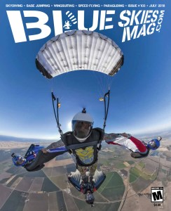 Blue Skies Mag i103: July 2018   On the cover: Guru Khalsa takes a selfie above Skydive California with (l-to-r) Tristan Henle, Craig Lambton and Ted Chen.   https://blueskiesmag.com/project/i103-july-2018