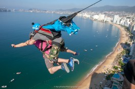 Brain Crail earns his Tandem Base number 2 in Mexico - Team ILL Vision hosts the Acapulco BASE Boogie off the La Palapa hotel - Promoting tourism through Low Altitude Parachute Deployment Demonstration Jumping - Harry Parker Photography - Reflecting the best of your business, product, self.