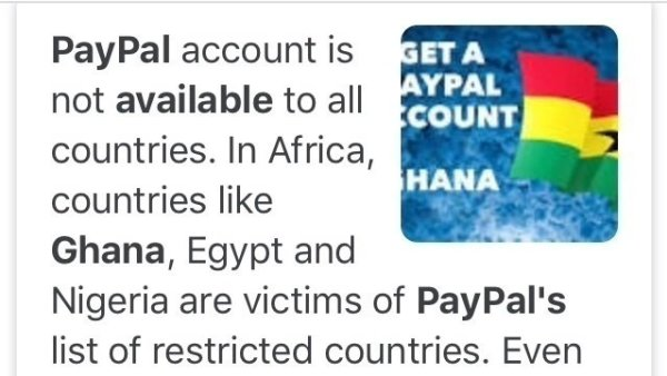 PayPal Restricted Countries