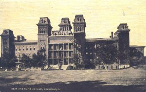 """""""Deaf and Dumb Asylum, Columbus, O,"""" circa 1911. Image courtesy of the Smithsonian National Museum of American History, https://everybody.si.edu."""
